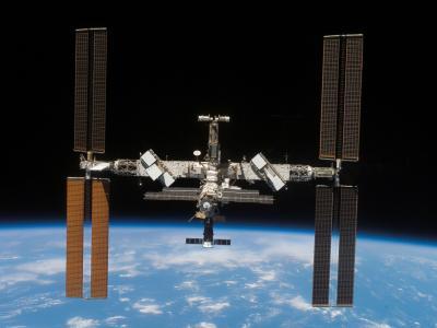 太空中的国际空间站