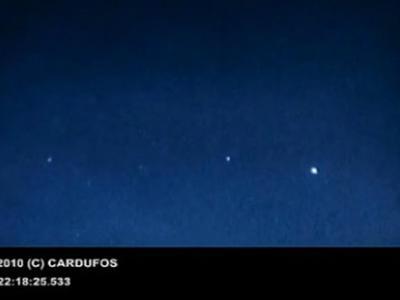 英国加的夫拍摄到的不明飞行物视频