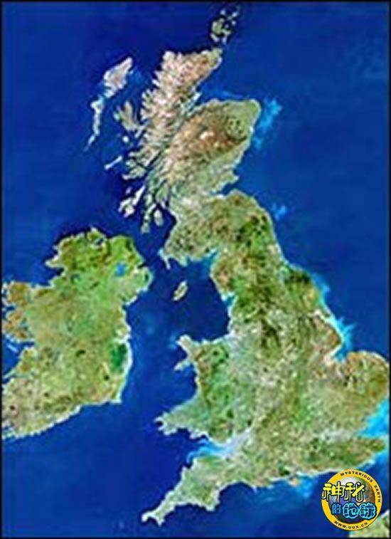 拍到英国地图形状的云彩 神秘的地球 科学 自然 地理 探索