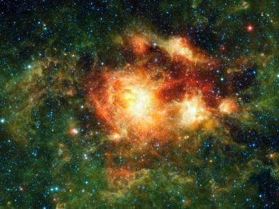 有大量恒星形成的气体云