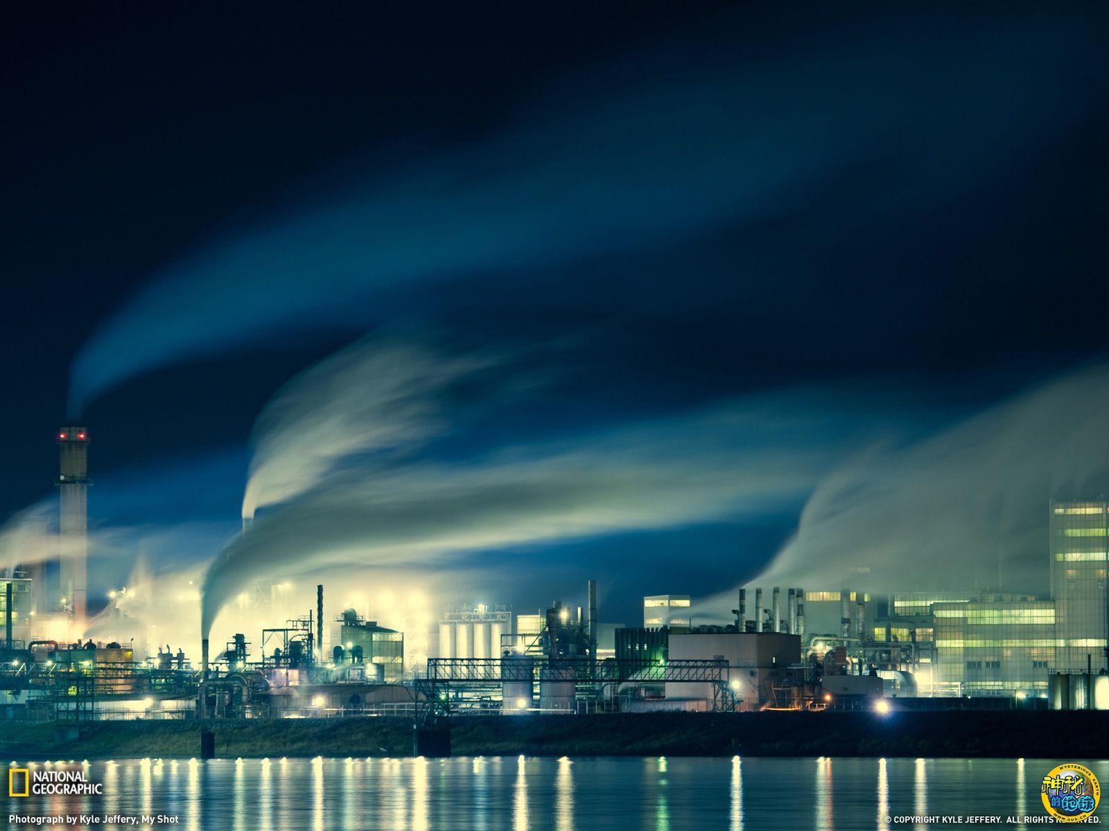 美国密西西比河上空工业废气