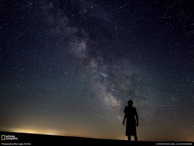 美国华盛顿州夜空壮观银河