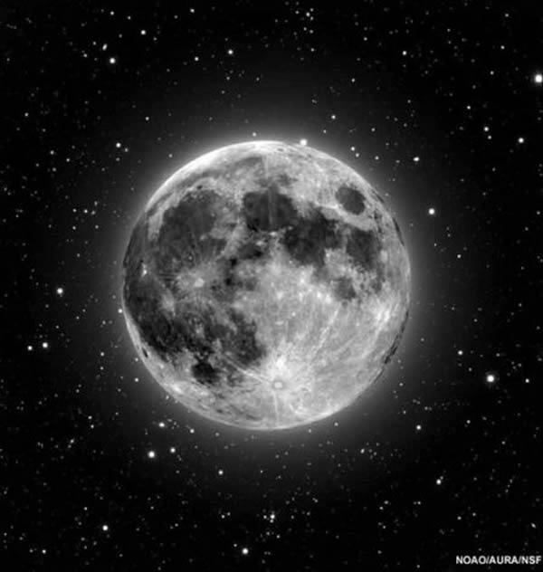 月亮绕地球一周