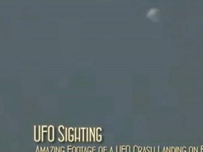 美媒公布UFO万米高空直坠地面视频