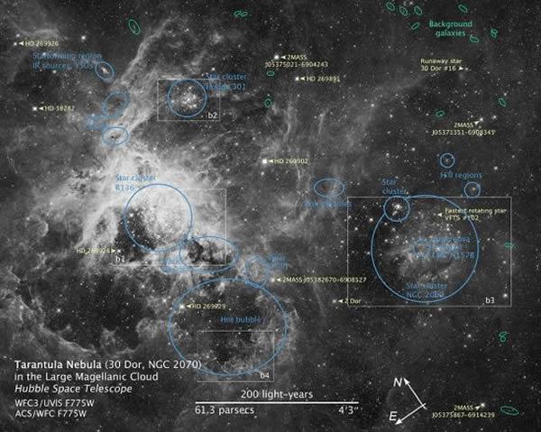 哈勃 太空望远镜捕捉到一个 星爆