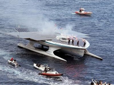 世界上首艘太阳能动力双体船现已完成环游世界之旅
