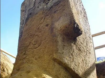 复活节岛雕像事实上是完整的人体结构