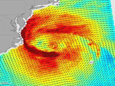 测绘图对比飓风桑迪和飓风卡特里娜