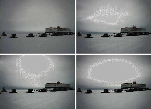 南极诺伊迈尔科学站天空奇异现象