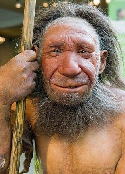 科学家还原的尼安德特人。3.3万年前,这种穴居人从地球上消失