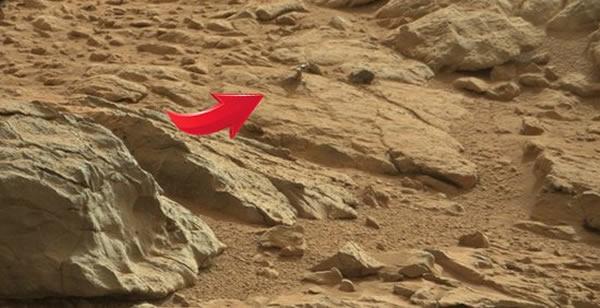 """""""好奇号""""在火星岩层中发现神秘金属物体"""