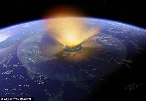 位于加勒比海岸的墨西哥的一个直径110英里(177.03公里)的陨石坑,标志着它是一颗直径6英里(9.66公里)的天体(不是小行星就是彗星)撞上地球的地方