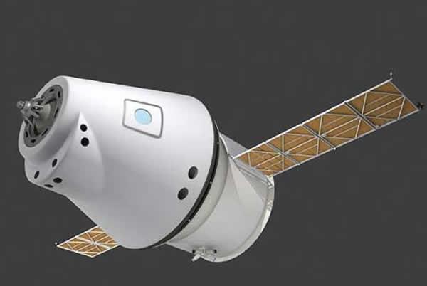 俄罗斯新一代太空飞船想象图