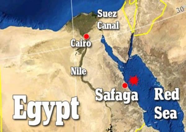 """""""进取""""号调查船从埃及萨法加出发,而后利用多束回声测深器绘制这个大峡谷的3D图像"""
