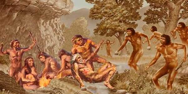 图3. 更新世古人类当地居民与入侵者之间发生的冲突(吴秀杰供图)