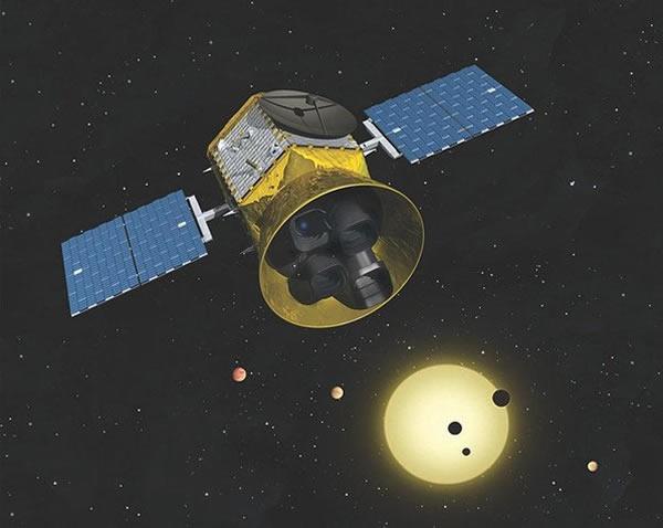 艺术家描绘的凌日系外行星勘测卫星