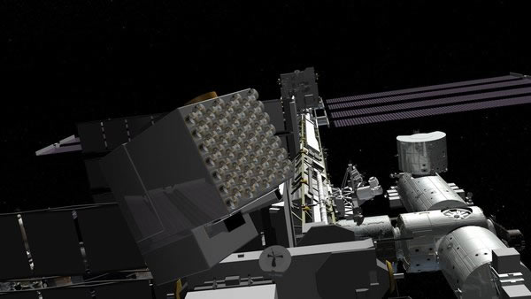 艺术家描绘的装配国际空间站的中子星内部成分探测器