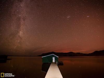 新西兰夜空中的银河
