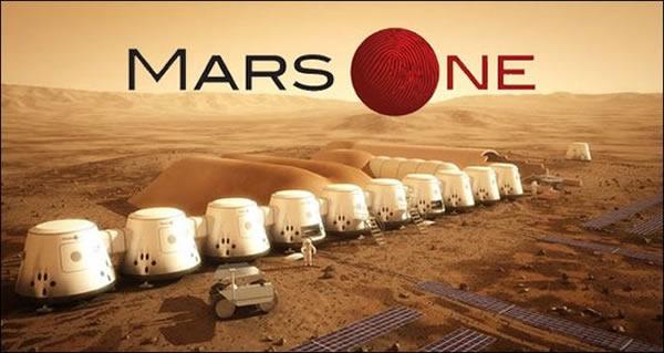 """艺术家描绘的""""火星一号""""殖民计划在火星上建立的殖民地"""