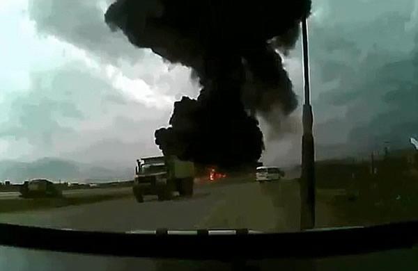 美军飞机坠毁阿富汗过程的恐怖画面