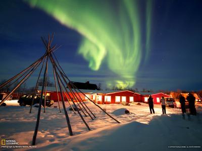 瑞典阿比斯库国家公园北极光
