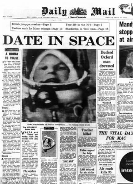 1963年,捷列什科娃的太空飞行登上头版头条。