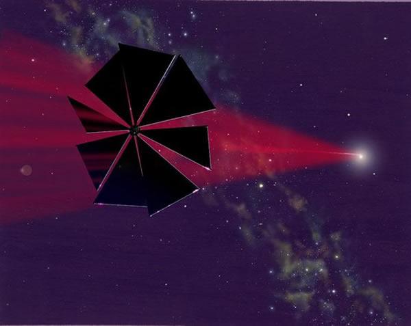 """太阳帆技术如同未来星际航行的""""风帆"""",无需携带燃料就可以进行长距离空间飞行"""