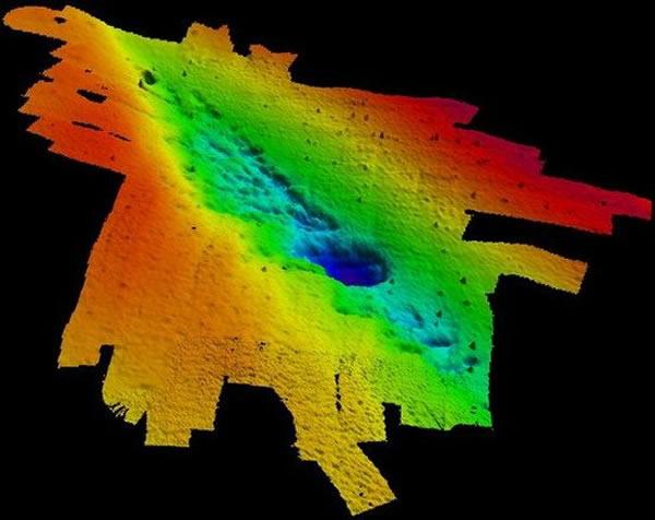 声纳图像显示墨西哥湾海底存在着一个远古水下森林