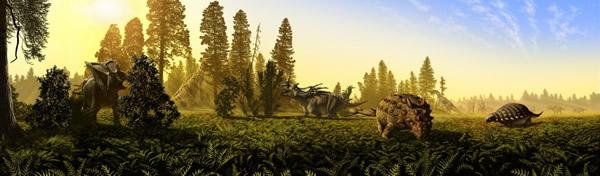 北美西部植食恐龙能和谐相处的原因:吃不同的食物