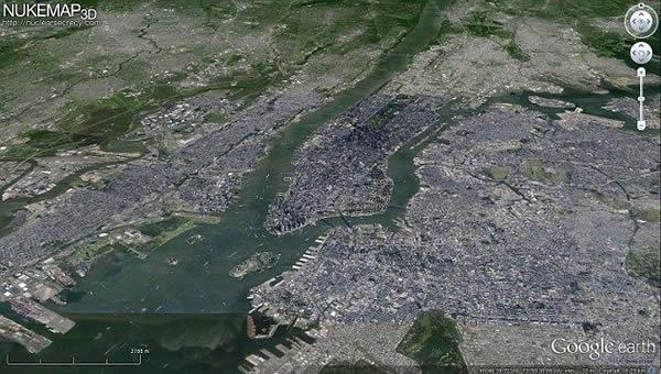 3D核武器地图真实模拟核弹爆炸情景