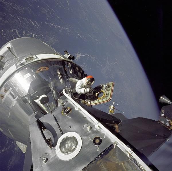 阿波罗9号执行任务时的情景