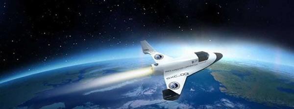 美国加州XCOR宇航公司的新型亚轨道飞船Lynx概念图