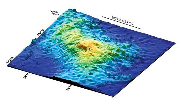 大塔穆火山(Tamu Massif)3-D地图
