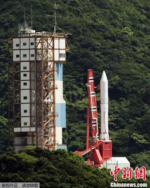 """原定于当地时间2013年8月27日下午从位于日本鹿儿岛县的内之浦宇宙空间观察所发射升空的日本最新型的运载火箭""""艾普斯龙""""(Epsilon)在指挥员倒数结束之后,"""