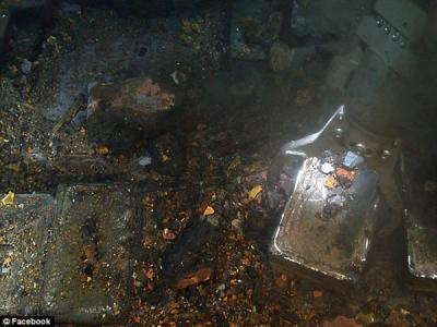 北大西洋二战沉船上打捞出48吨白银