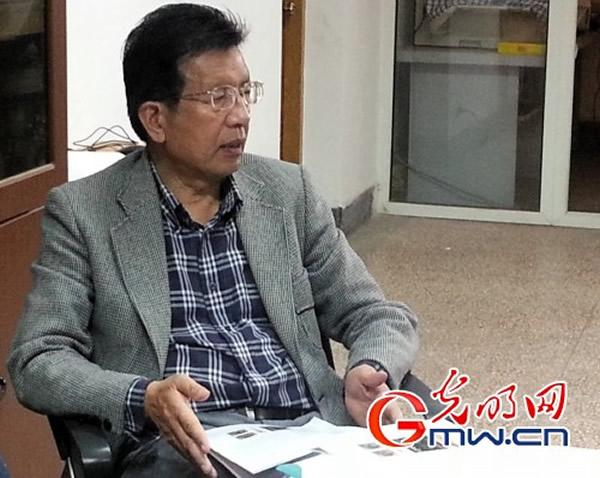 云南大学侯先光教授正在介绍这一重要科研成果