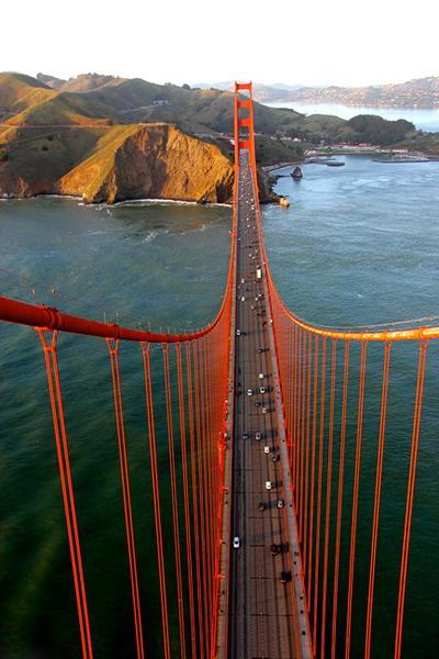 摄影师v数控攀爬美国旧金山金门大桥拍a数控俯瞰数控铣图纸大学生创意图片