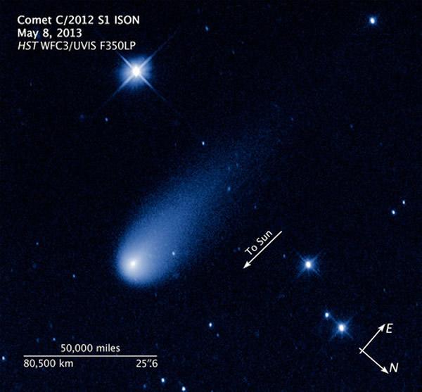 具有世纪大彗星潜力的艾桑彗星