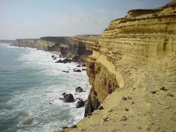 安哥拉海岸令人惊叹的海崖是一个化石床,揭示了白垩纪丰富的生态系统。