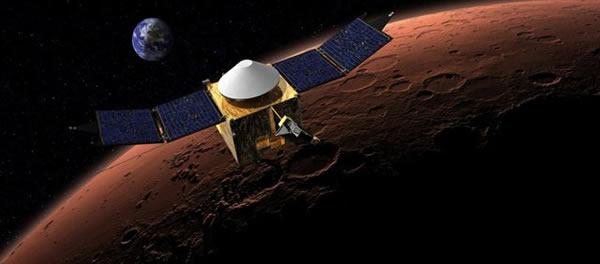 火星大气与挥发物演化任务探测器将对火星大气失踪之谜进行调查,后期还将作为火星轨道中继平台副本