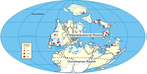 早石炭世杜内期全球古地理和世界性的腕足动物地理大区