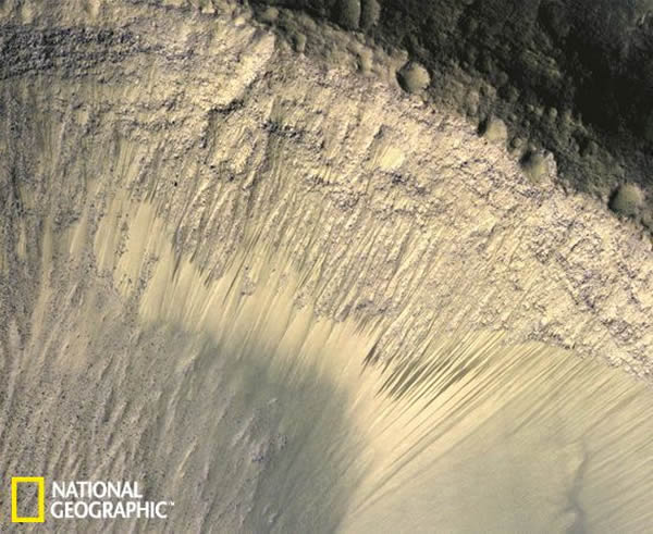 火星上季节的痕迹