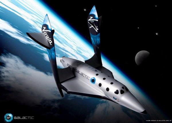 美国维珍银河公司提供的用于太空旅行的飞船图片