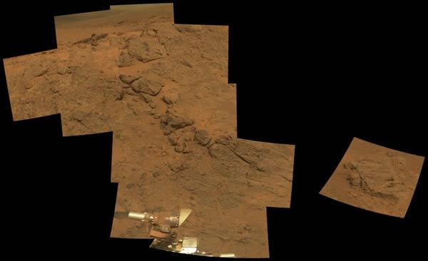 机遇号拍摄奋进陨石坑边缘照片以庆祝登陆火星10周年