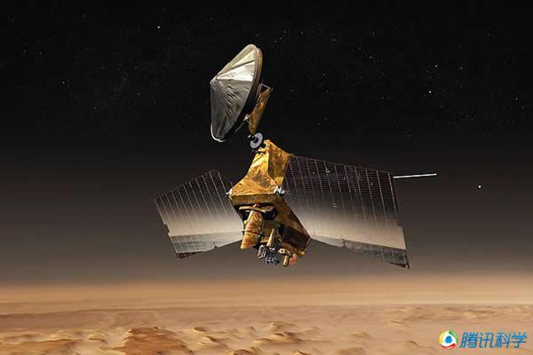 火星勘测轨道探测器对火星表面进行的详细观测。