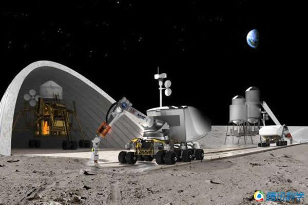 3D打印技术在月球上建基地
