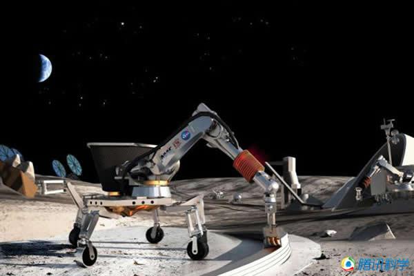宇航员在不久的将来可使用3D打印技术在月球上建造基地。
