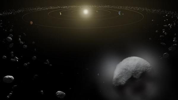 小行星Ceres上的水蒸气