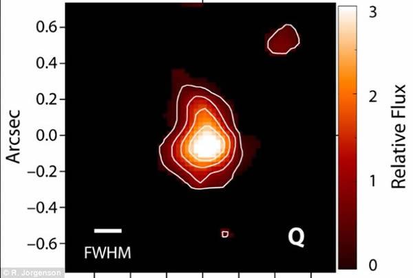 银河系的年轻版本DLA2222-0946。它的检测是基于对该星系氢放射的观测。