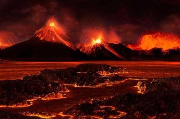 二叠纪末生物大灭绝时的陆地景观,图片来源MIT